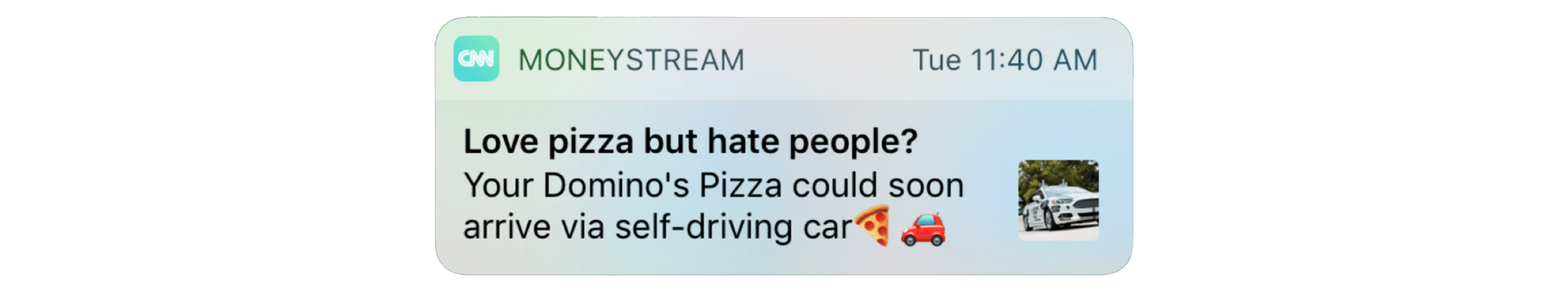 Effective push notification example