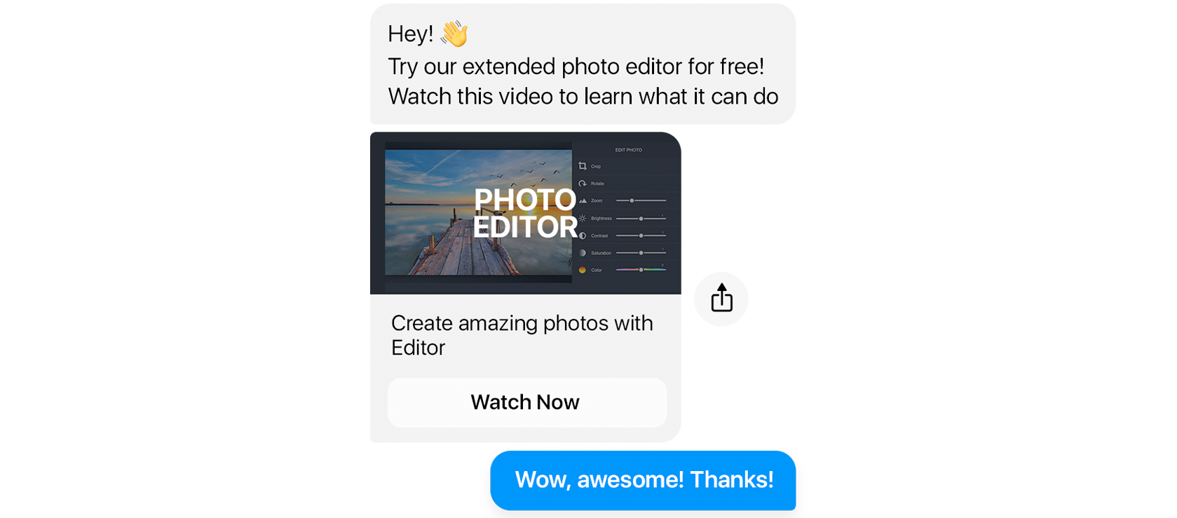 Customer onboarding with Facebook messages
