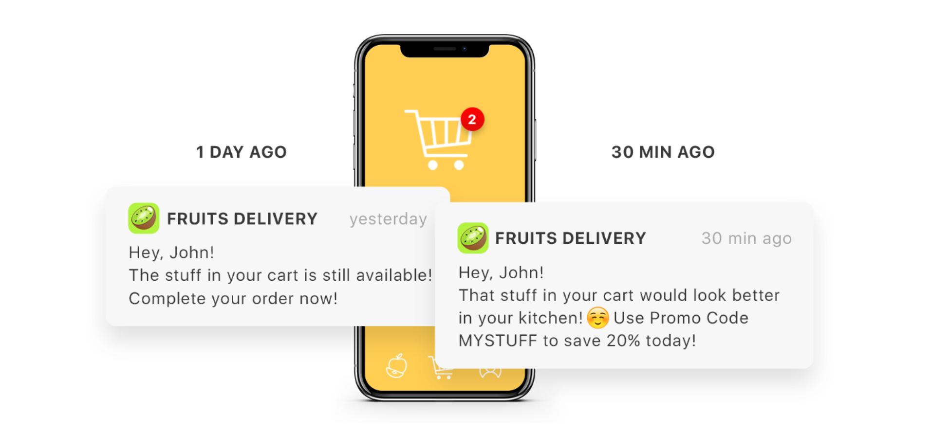 Behavior-based marketing push notifications - examples