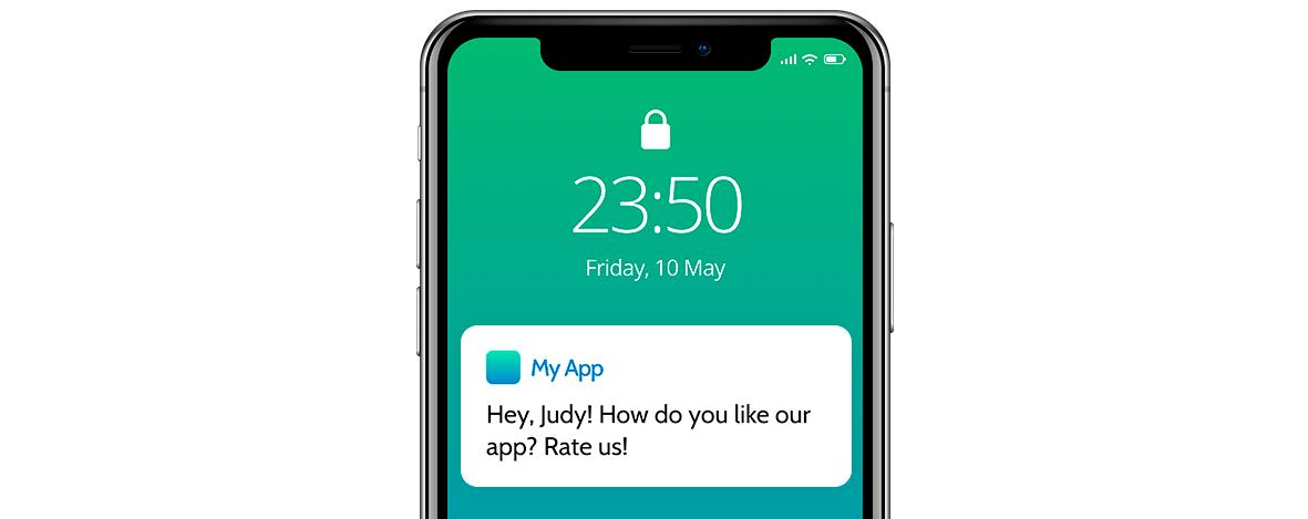 Behavior-based marketing push notification example