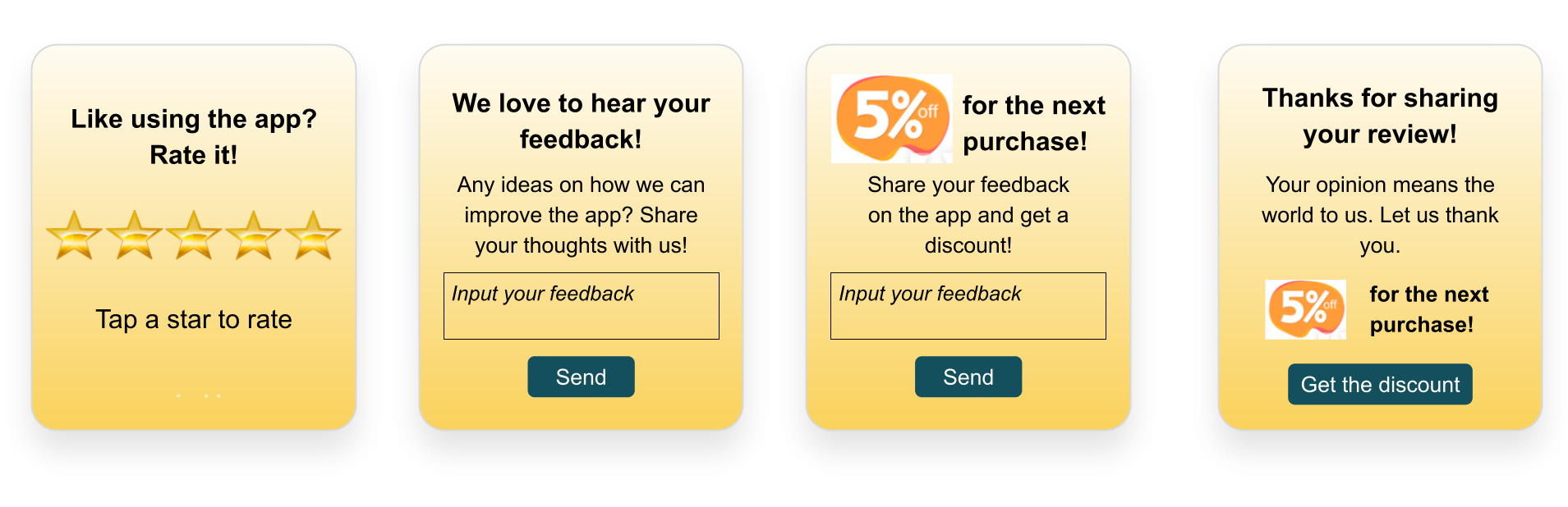 Increase app user engagement with NPS surveys and feedback collection