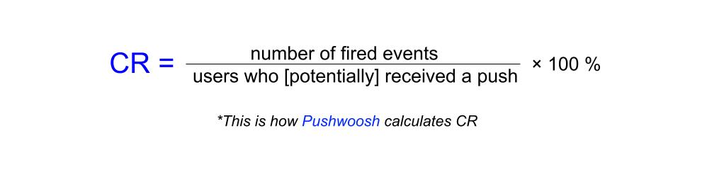 Conversion rate formula - Pushwoosh