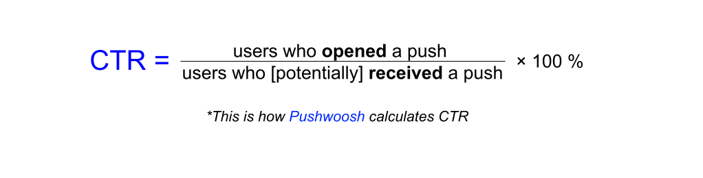 Push notification CTR formula - Pushwoosh