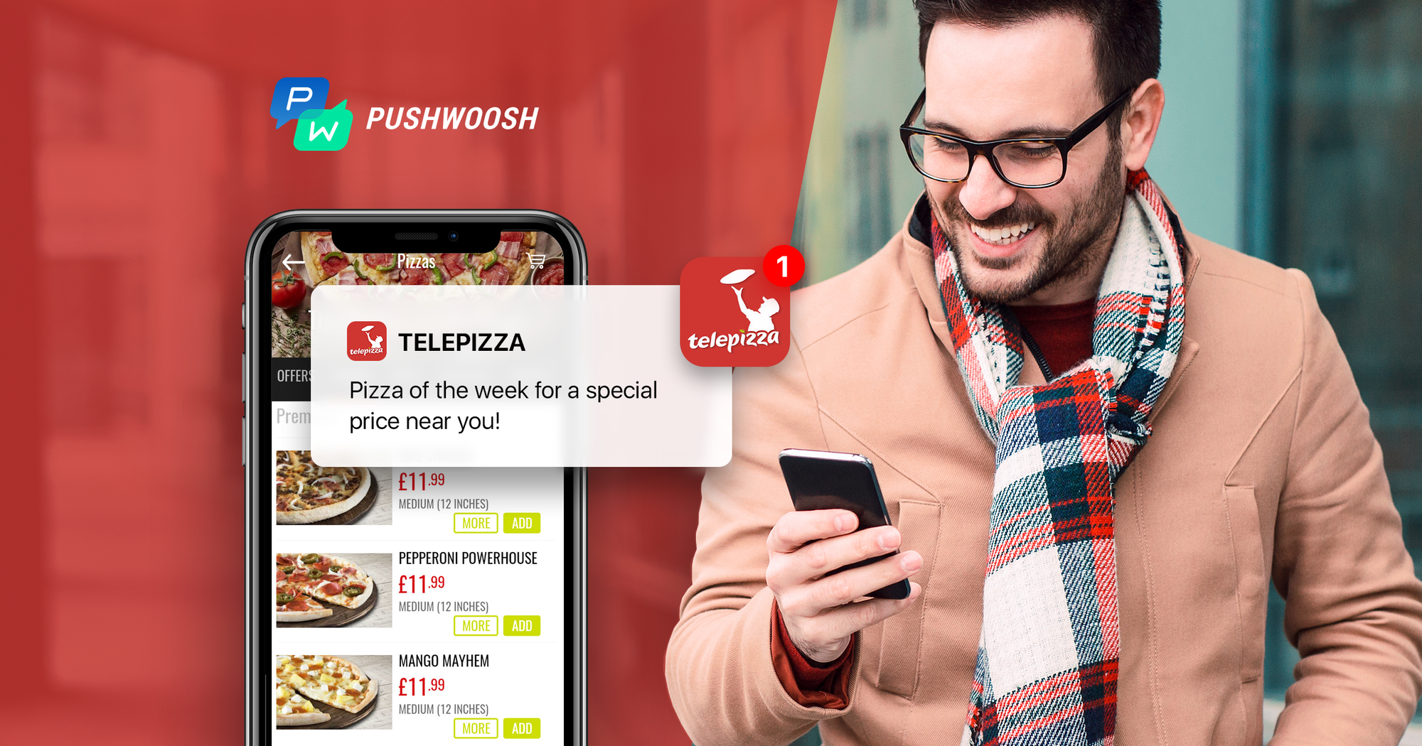 Telepizza drives sales and revenue growth with Pushwoosh